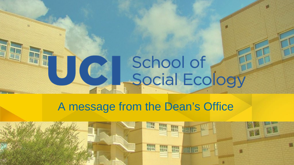 message from the deans